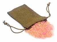 Small Moss Green Jute Bag With Drawstring 7.6 x 12.7 cm - Pack of 12 (MOB35)