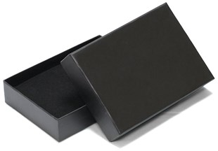 END OF LINE Black Laminated A6 box 165 mm x 116 mm x 35mm (EOLWPA6BL)