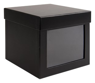 Deluxe Black Laminated Display Box 150 x 150 x 140mm