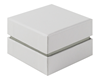 Shoulder Box Collection | Ring Jewellery Box White & Grey