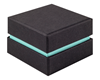 Shoulder Box Collection | Ring Jewellery Box Black & Turquoise