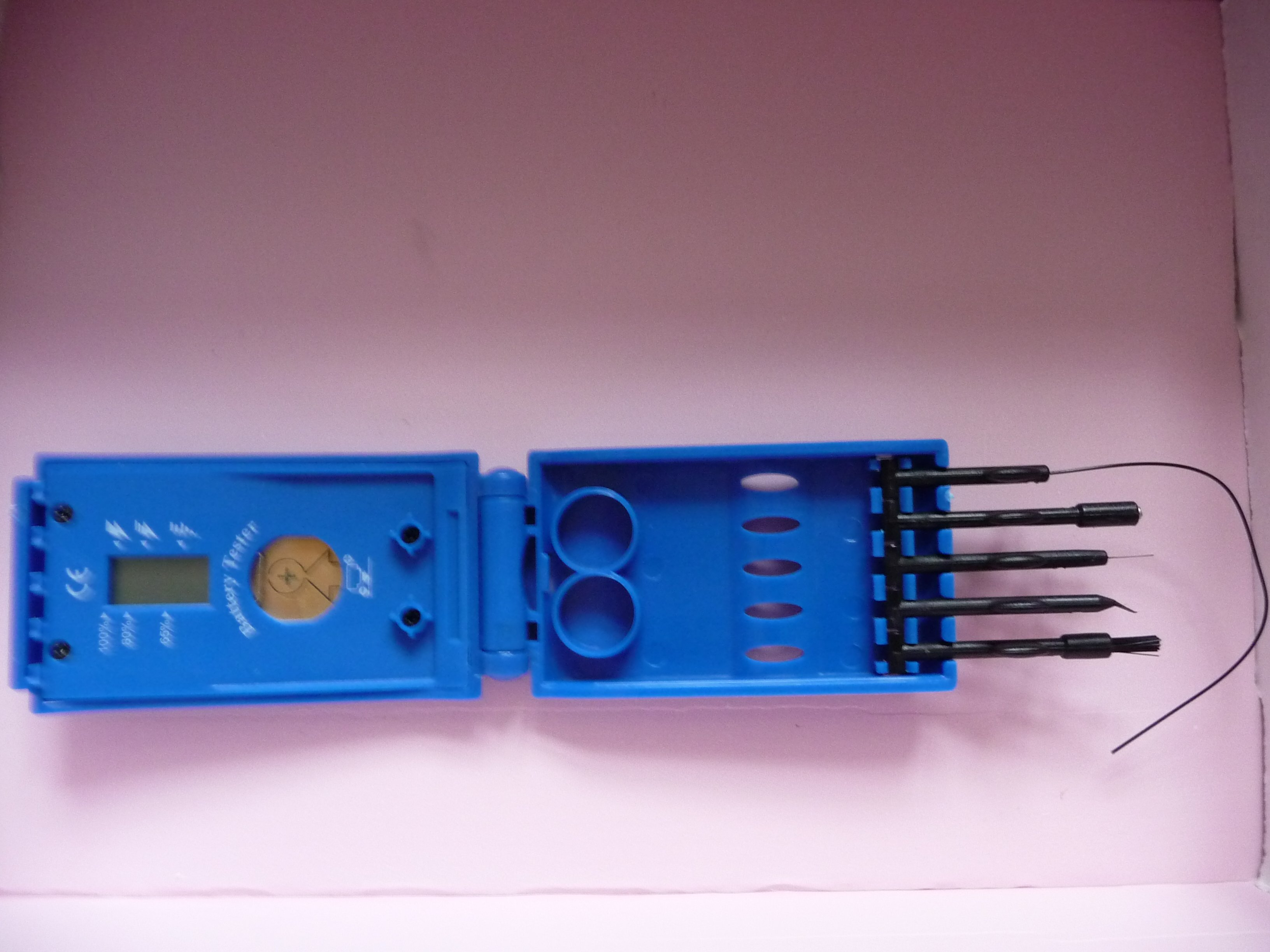 Hearing Aid Cleaning Kit With Battery Tester And Holder