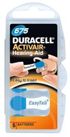 Duracell Activair Mercury Free Hearing Aid Batteries Size 675 (x60 Batteries)