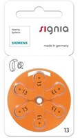 Siemens/Signia Size 13 Mercury Free Hearing aid batteries