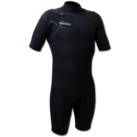 GYROLL WETSUITS Primus 2/2mm Chest Zip GBS Springsuit  - Black - 2015/16 Model