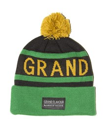 GRAND FLAVOUR Get Ahead Beanie - Black/ Green