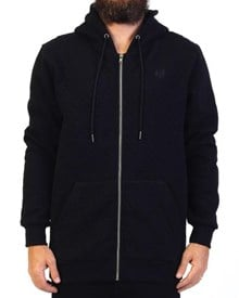 GRAND FLAVOUR Quilted Hooded Pullover - Black
