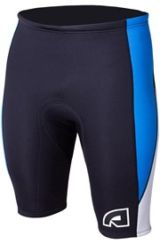ATTICA WETSUITS EQUATOR 2mm WETSUIT SHORTS - Black/ Blue/ White