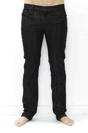 PLASTIC PEOPLE DENIM - Black Slim/Straight Jeans