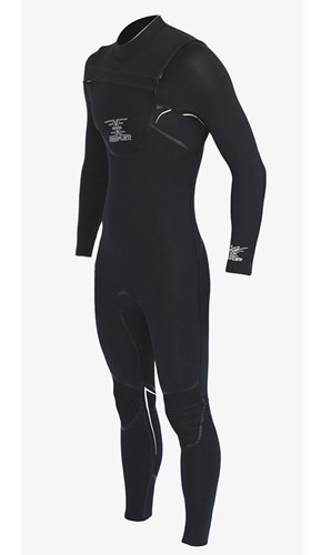 REEFLEX WETSUITS MERCURY 4/3mm Dawn V2 CHEST ZIP STEAMER - Black