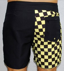 GRAND FLAVOUR  Checkmate Short Boardshorts - Black