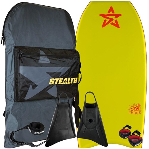 STEALTH BODYBOARDS Chaos PE Core - 2017/18 Model - Package Deal - Assorted Colours
