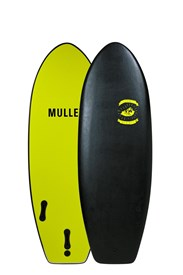 MULLET SOFT SURFBOARD Nugget Model - 4' 6 - Black - 2017/18 Model