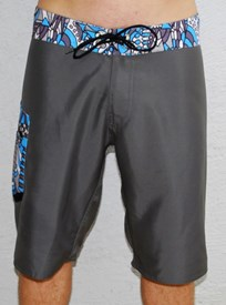 GRAND FLAVOUR  Wacky Long Boardshorts - Grey