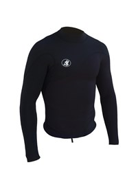 ZION WETSUITS Wesley 1mm Long Sleeve Vest - Black - Summer 2015/16 Range