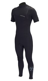 REEFLEX WETSUITS Wanderer 2/2mm Zipperless Short Sleeve Steamer - Black