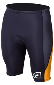 ATTICA WETSUITS EQUATOR 2mm WETSUIT SHORTS - Black/ Graphite/ Orange