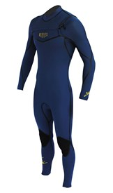 REEFLEX WETSUITS Jerry Series 3/2mm GBS Chest Zip Steamer - Iodine Blue