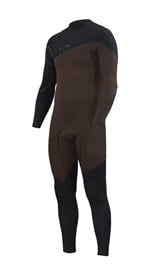 ZION WETSUITS Cortez 3/2mm Liquid S-Sealed Zipperless Steamer - Black/ Earth - Winter 2017 Range