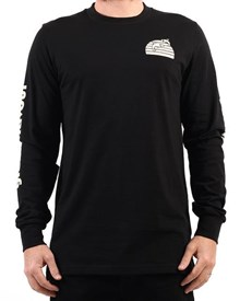 GRAND FLAVOUR Salmon Long Sleeve T Shirt - Black