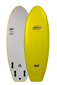MULLET SOFT SURFBOARD Biscuit Model - 5' 4 - Yellow - 2016/17 Model