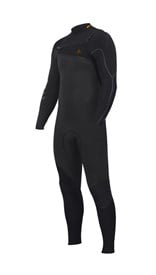 ZION WETSUITS Yeti 4/3mm Liquid S-Sealed Chest Zip Steamer - Graphite / Black - Winter 2016 Range