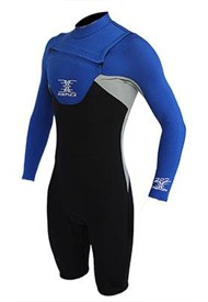 REEFLEX WETSUITS MERCURY 2/2mm CHEST ZIP 2/2mm Long Sleeve Springsuit - Marine (Electric Blue / Silver / Black)