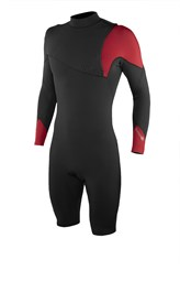 REEFLEX WETSUITS Romero Tank Zipperless 2/2mm Long Sleeve Springsuit - Graphite/ Red - Winter 2018 Range