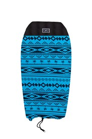CREATURES OF LEISURE Stretch Board Sock - Black/ Blue Pattern