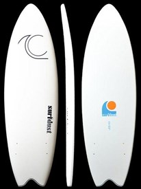 SURFDUST SOFT SURFBOARD - Primo 5'8 Twin Fin Fish