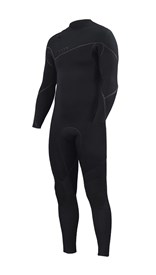 ZION WETSUITS Yeti 4/3mm Liquid S-Sealed Zipperless Steamer - Black - Winter 2017 Range