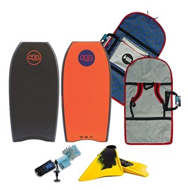 HB Bodyboards Raw Art Polypro Core - Package Deal - Assorted Colours