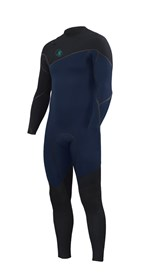ZION WETSUITS Cortez 3/2mm Liquid S-Sealed Zipperless Steamer - Navy / Black - Winter 2016 Range