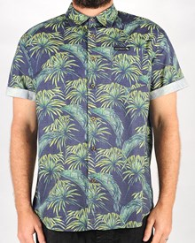 GRAND FLAVOUR Holiday Button Up Shirt - Green