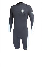 REEFLEX WETSUITS Hardy X Series Zipperless 2/2mm Long Sleeve Springsuit - Graphite/ Luna White