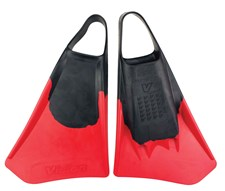 VISION SWIM FINS - Black/ Red
