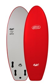 MULLET SOFT SURFBOARD Biscuit Model - 5' 4 - Red - 2017/18 Model