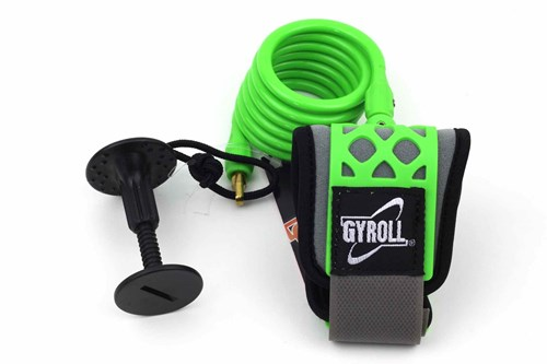 GYROLL Wrist Leash - Lime Green Coil / Cuff