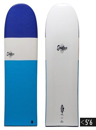 The Seaglass Project Albacore Finless Alaia Model - 5'6