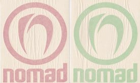NOMAD BODYBOARDS - Logo Die Cut Sticker - Assorted Colours