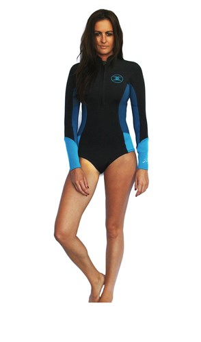 REEFLEX WETSUITS Sophie Jayne Ladies 1.5mm Bikini Cut Long Sleeve Springsuit - Ocean