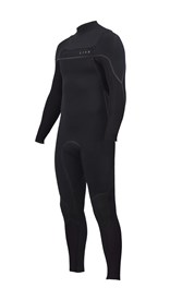 ZION WETSUITS Vault 3/2mm Liquid S-Sealed Chest Zip Steamer - Black - Winter 2017 Range