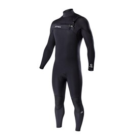 ATTICA Wetsuits - Omega GBS 3/2mm Steamer - Black/Silver Prints - 2017 Winter