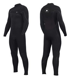 ZION WETSUITS Yeti 3/2mm Liquid S-Sealed Chest Zip Steamer - Black - 2nd Winter 2017 Range