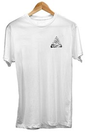 ZION WETSUITS Illuminati Pizza T Shirt - White