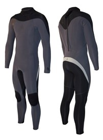 ZION WETSUITS FLUX 3/2mm STEAMER - Graphite/ Silver/ Black