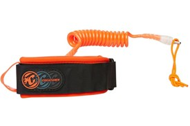 CREATURES OF LEISURE Ryan Hardy Bicep Leash - Orange/Clear (Orange Cuff)