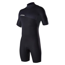 ATTICA WETSUITS DELTA 2/2mm SPRINGSUIT - Black - Summer 2016/17 Range