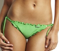 Seafolly Shimmer Brazilian Tie Side With Lettuce Edging