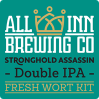 All In Stronghold Assassin Double IPA Fresh Wort